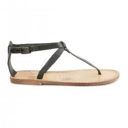 Sandalo infradito con effetto vintage in cuoio