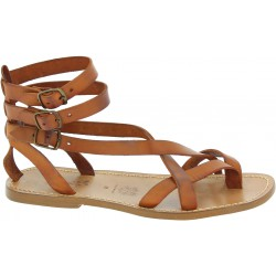 Light brown men's gladiator sandals Handmade in Italy