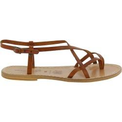 Sandales en cuir femme travaillé à la main en Italie