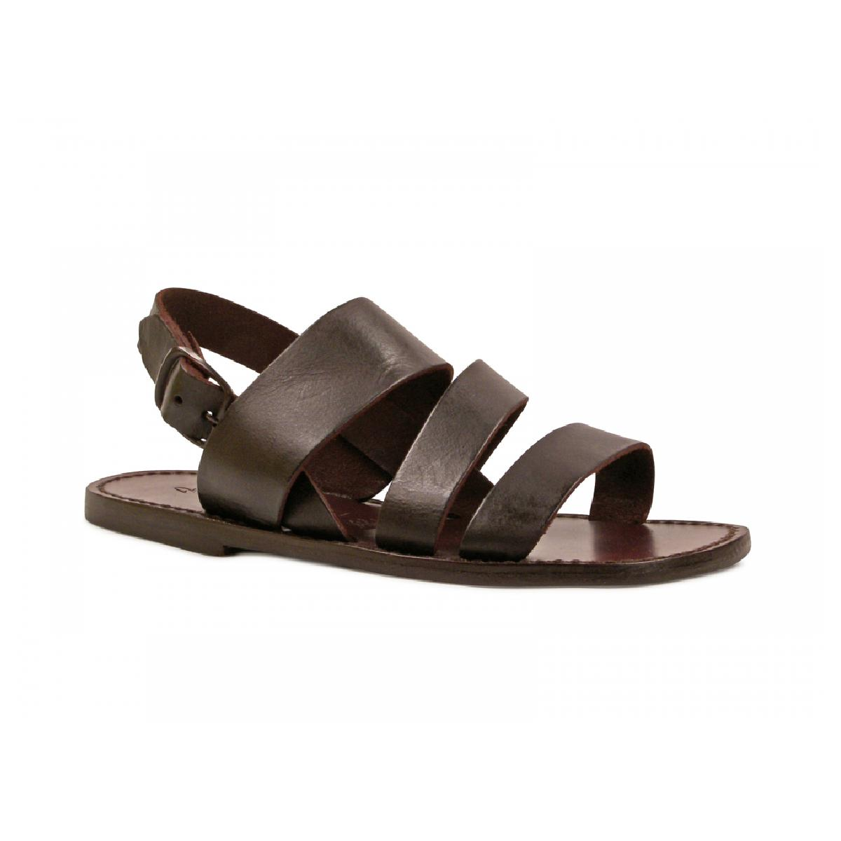 92936016acdc Brown leather sandals handmade in Italy for men s. Loading zoom
