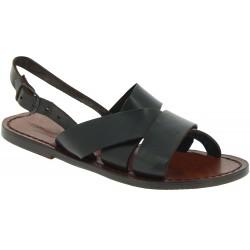 Sandales franciscaines pour famme en cuir tête de maure