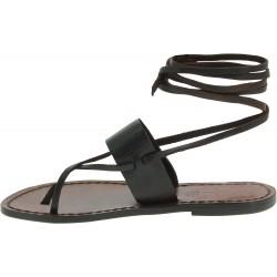 Sandali alla schiava fatti a mano in pelle testa di moro