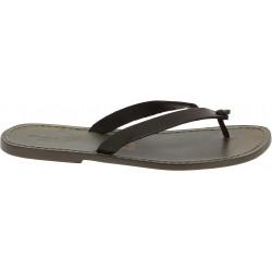 Handmade mud leather thongs sandals for men