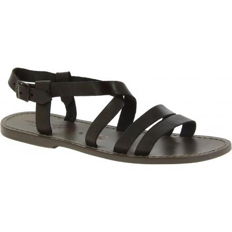Franziskaner-sandalen für Männer aus schlammfarbene Leder in Italien von Handgefertigt