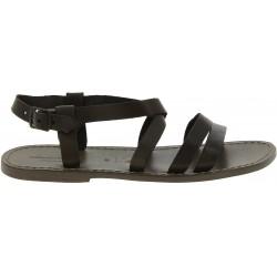 Sandales religieux pour homme en cuir boue fait à la main