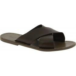 Zapatillas de cuero para hombre hechas a mano en Italia