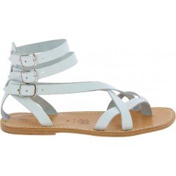 White men's gladiator sandals Handmade in Italy
