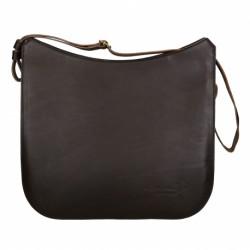 Hand gefertigte Schulter-Tasche aus braunem Leder
