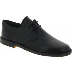 Zapatos bajos para hombre de cuero negro Hecho a mano en Italia