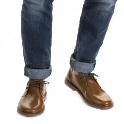 Scarpe basse da uomo in pelle marrone fatte a mano in Italia