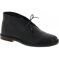 Desert boots homme en cuir noir artisanales fabriqué en Italie