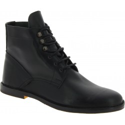 Men's black leather ankle boots handmade in Italy