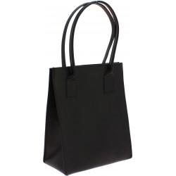 Cabas en cuir noir pour femmes fait à la main