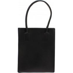 Bolso shopping de cuero negro hechos a mano
