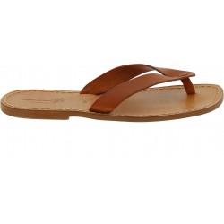 Sandalias de cuero marron hecho a mano para hombres