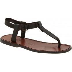 Sandali infradito da uomo in pelle marrone artigianali