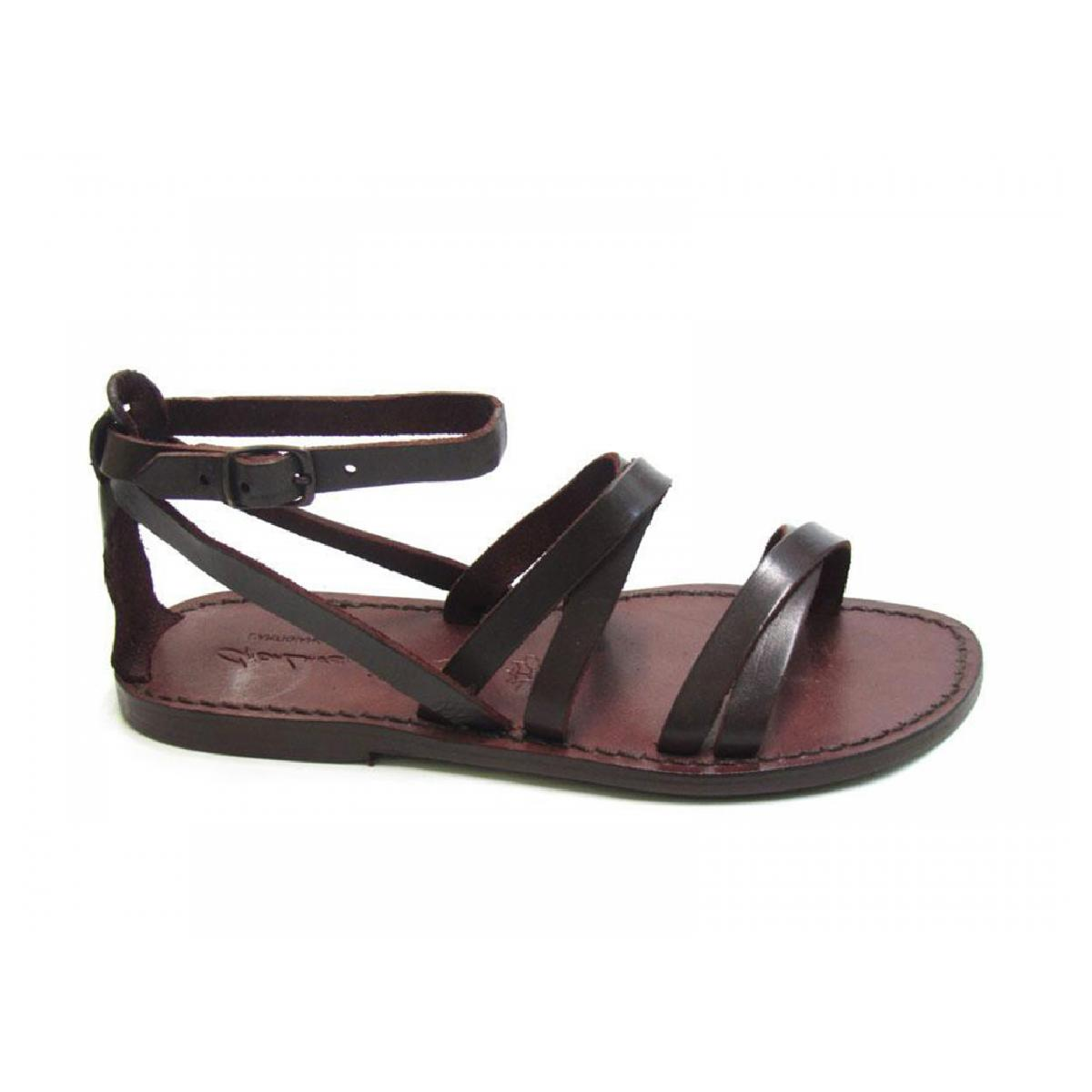 Popular Women39s Flat Sandals Handmade In Tan And Black Leather  Gianluca  The L