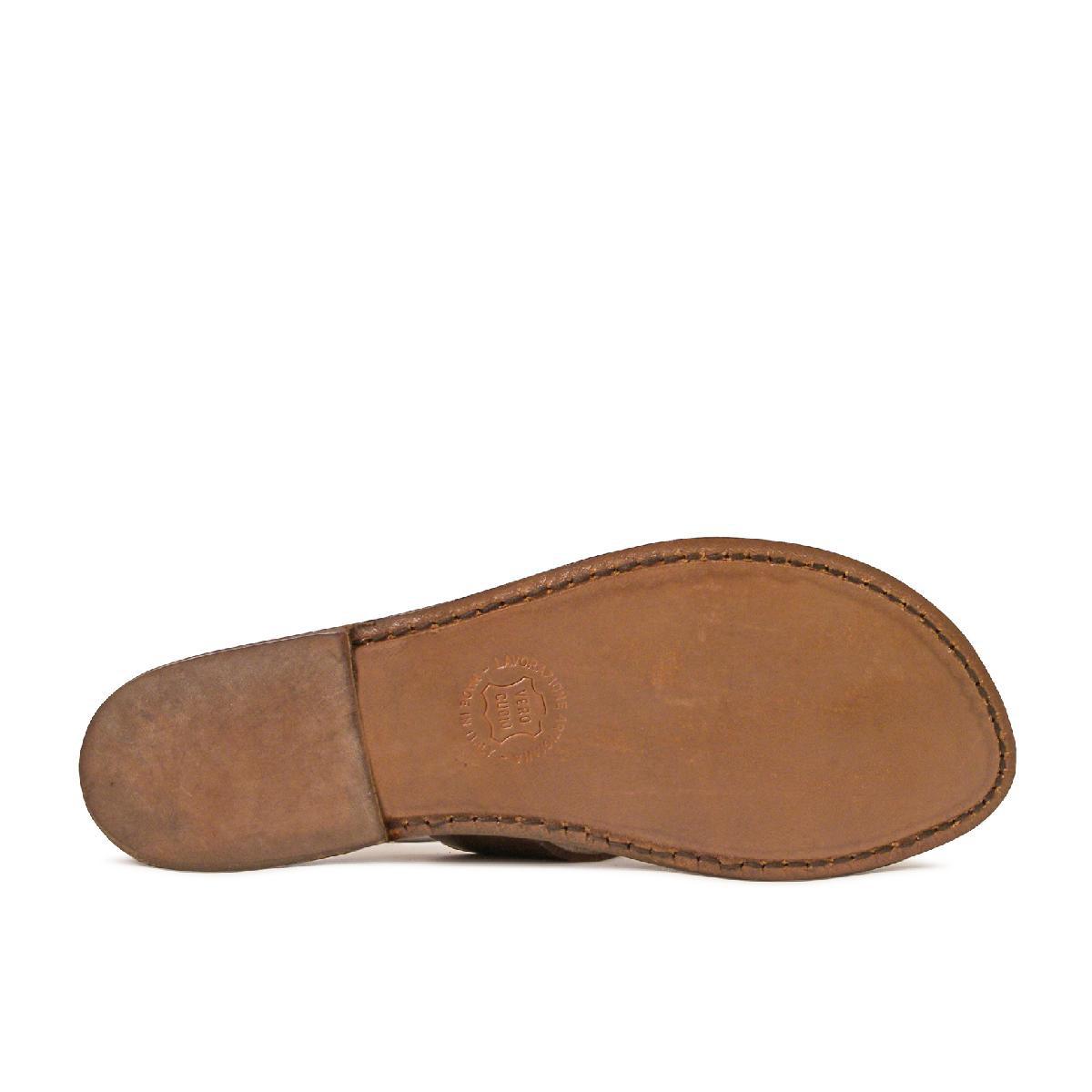 damen riemchen sandalen aus ockerfarbenem leder in italien von hand gefertigt gianluca das. Black Bedroom Furniture Sets. Home Design Ideas