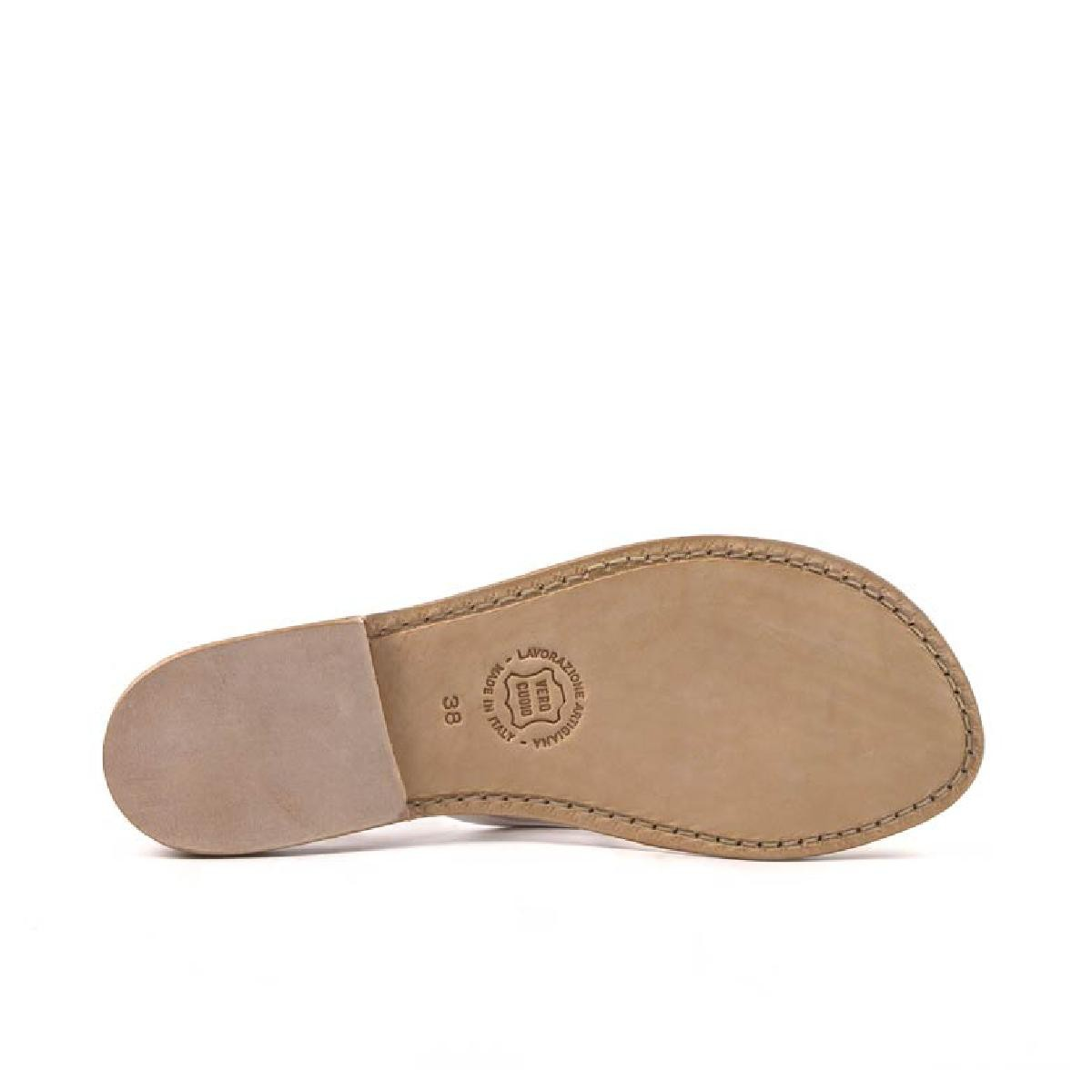 3c8661e303db83 Handmade womens silver flat sandals thongs with leather sole. Previous. Next