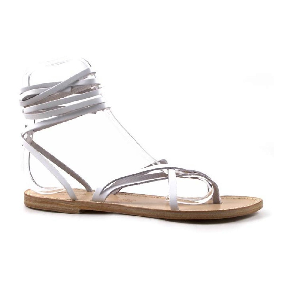 White sandals