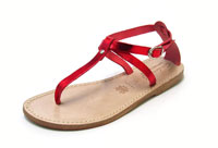 laminated red sandals