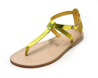 laminated yellow sandals